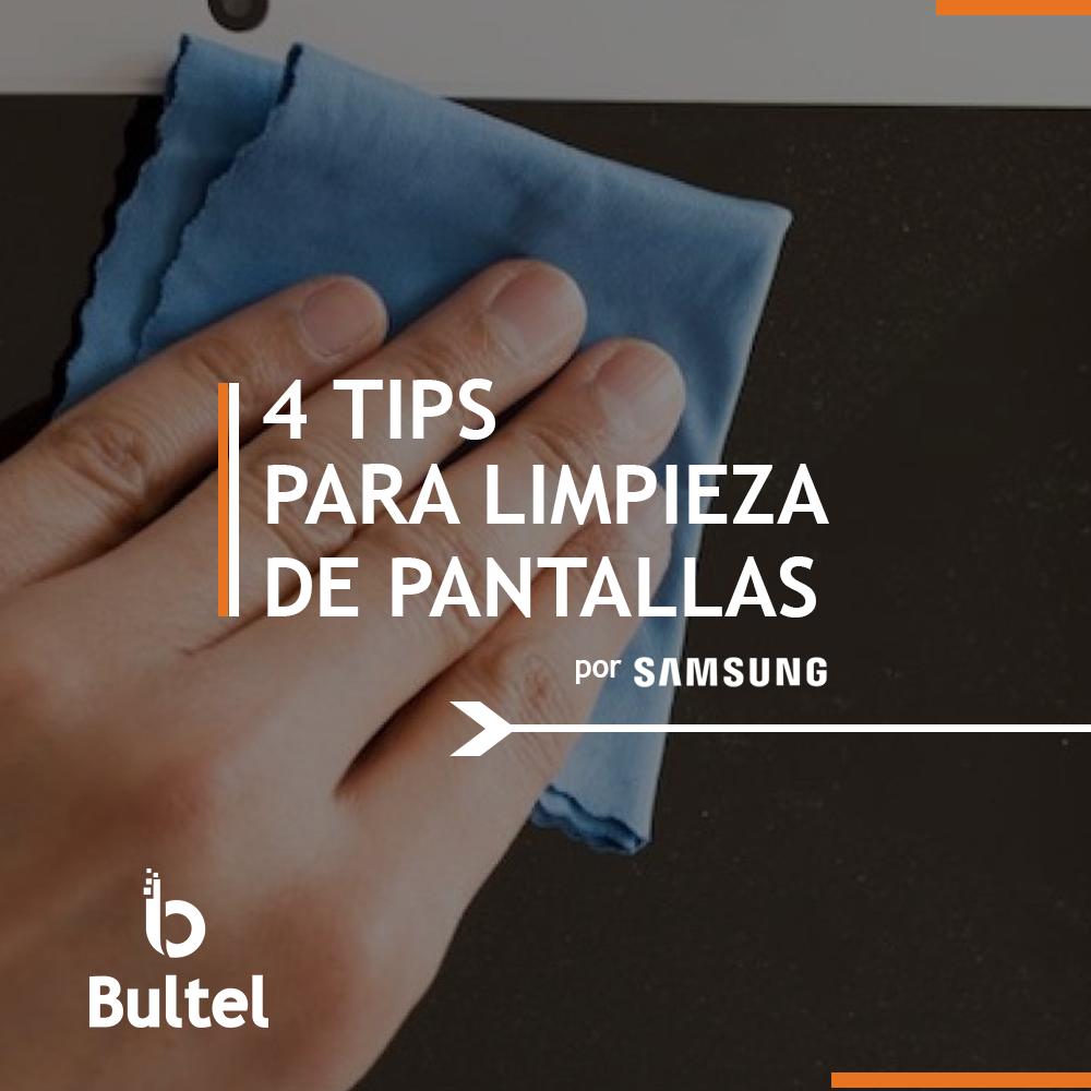 Tips para limpieza de pantallas